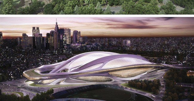 Hadid says Japan trying to take stadium design copyrights