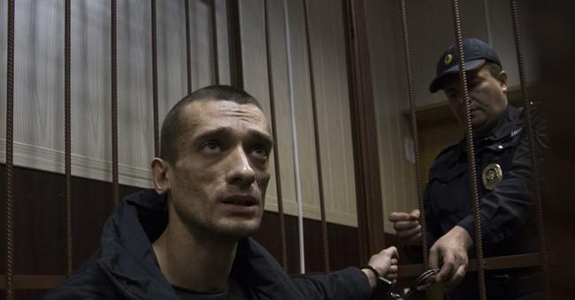 Russian performance artist convicted in pro-Ukraine protest