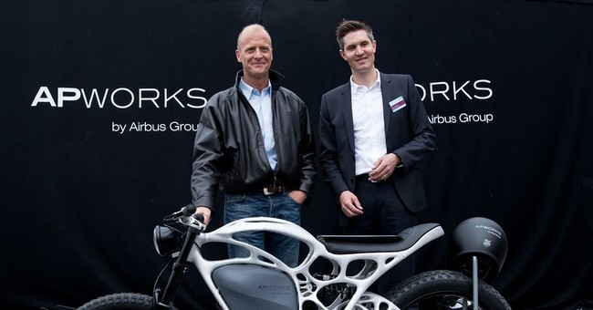 Airbus unit unveils 3D-printed electric motorcycle