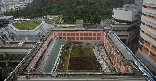 Roof of Hong Kong university gym collapses; 3 hurt