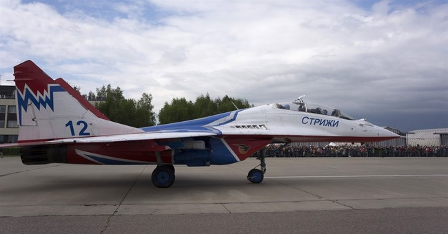 Russian military shows off its elite aerobatic flying teams
