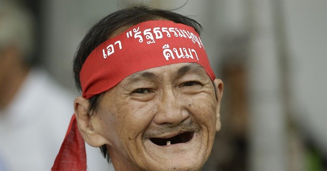 Protesters march to mark 2nd anniversary of Thailand coup