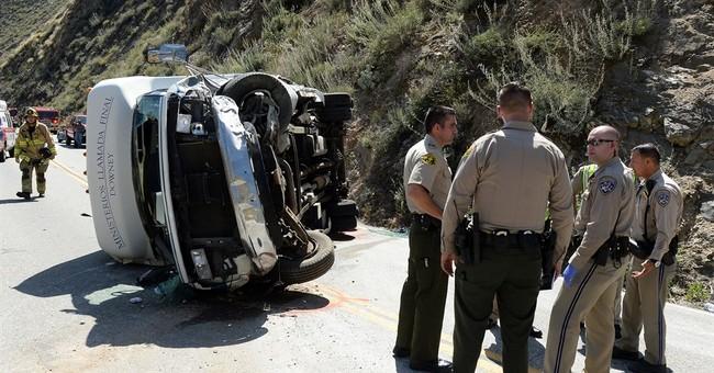 California bus crash leaves 20 injured, 6 seriously