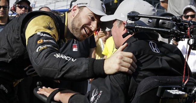 Hinchcliffe, Schmidt find perfect spot for 100th Indy 500