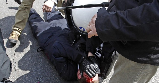 Brussels police chief injured during anti-austerity clashes
