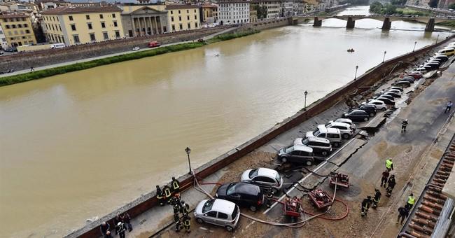 Water main break creates sinkhole along Florence's Arno