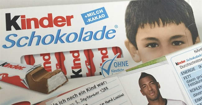 German far-right angry at soccer team's photos on candy bars