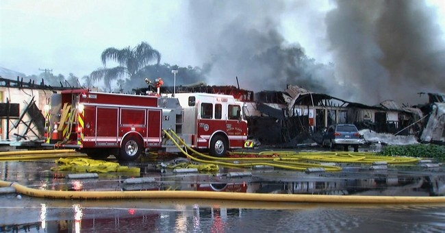Fire rips through Silicon Valley strip mall, ravaging shops