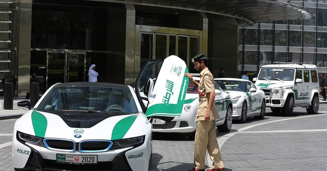 In image-conscious Dubai, even police patrol in luxury cars