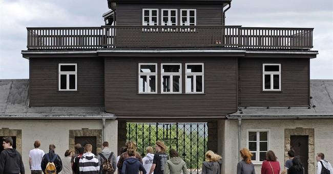 German police probe Britons' 'Hitler salute' at Buchenwald