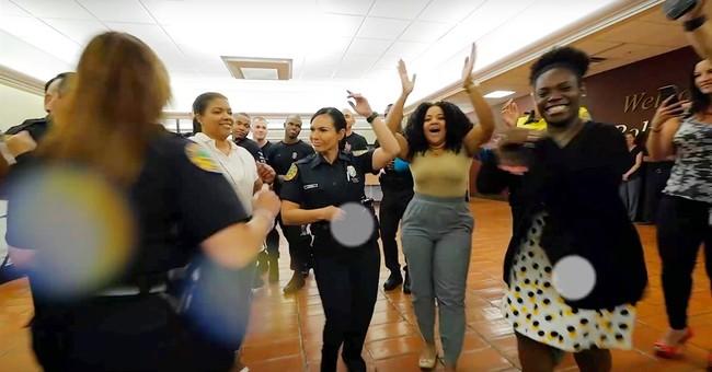 Online dance craze sweeps police departments across US