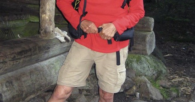 Hiker's decision to stay put was the right one _ at first