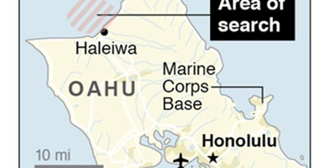 Marine helicopters crash off Oahu, search under way