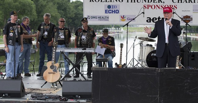 Trump rallies veterans at annual Rolling Thunder gathering
