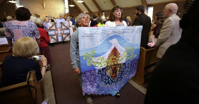 The Latest: Final service held in church after long protest