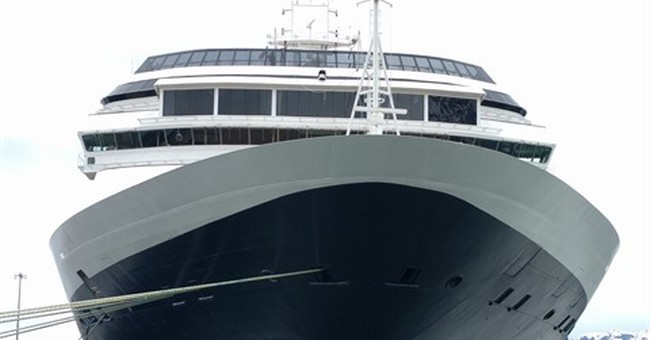 Dead whale found on bow of cruise ship entering Alaska port