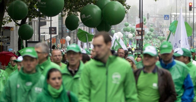 Public-sector workers strike in Belgium, transport disrupted