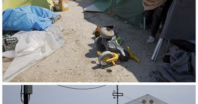 AP PHOTOS: Idomeni migrant camp, before and after bulldozers