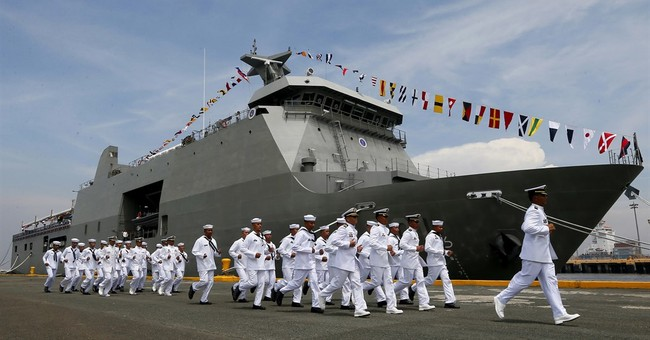 Philippine navy commissions its first landing dock vessel