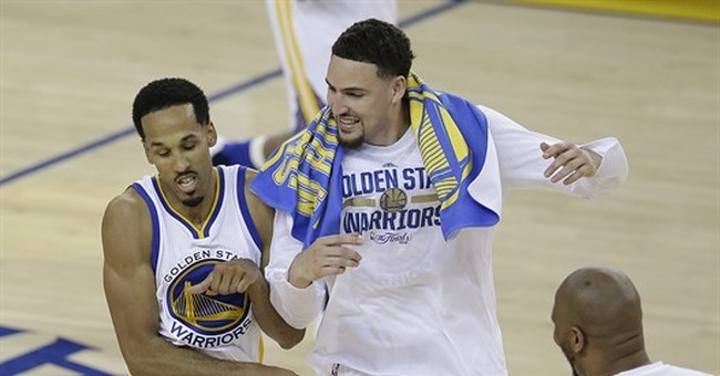 The Latest: Warriors beat Cavs 104-89, take Game 1 of Finals
