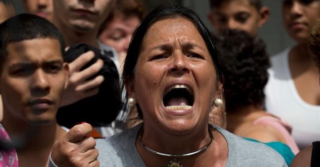 Venezuela police repel rare protest near presidential palace