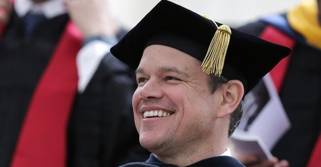 Matt Damon tells MIT graduates to face the world's problems