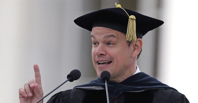 Matt Damon tells MIT graduates to face the world's problems