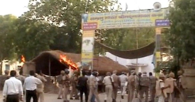 Clashes erupt during eviction drive in north India; 24 dead