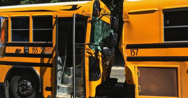 21 students hurt in 2-school bus crash in Washington state