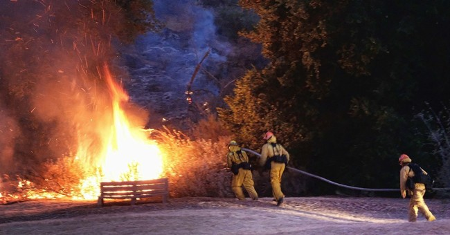 Fire near Los Angeles damages buildings, prompts evacuations