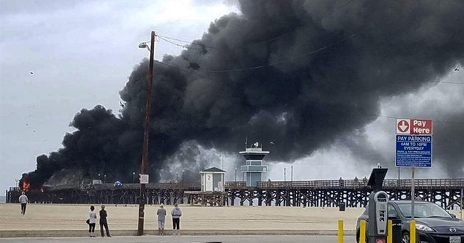 Official: Electrical glitch ignited fire at California pier