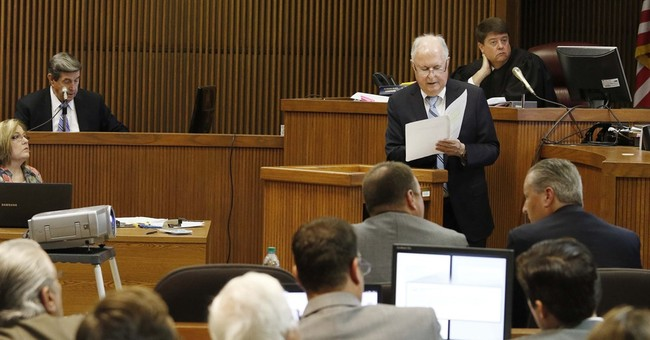 The Latest: Hubbard testifies in his own defense
