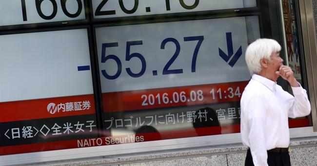 Asian stocks lower ahead of China trade data
