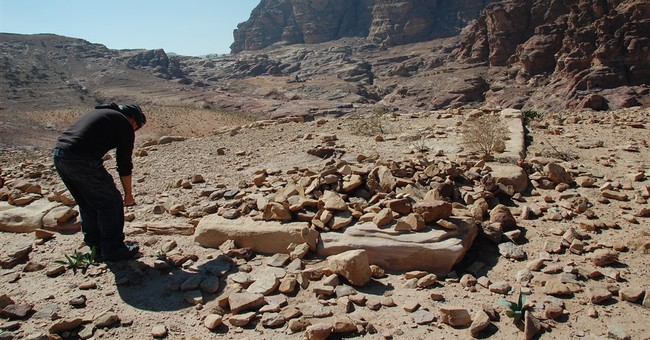 Archaeologist points to hidden monument in Jordan's Petra