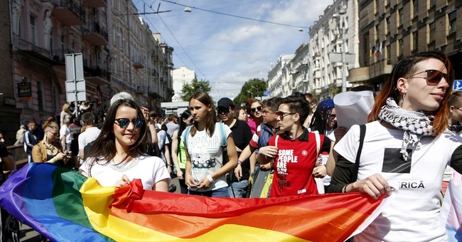 Ukraine holds its first major gay pride march in Kiev