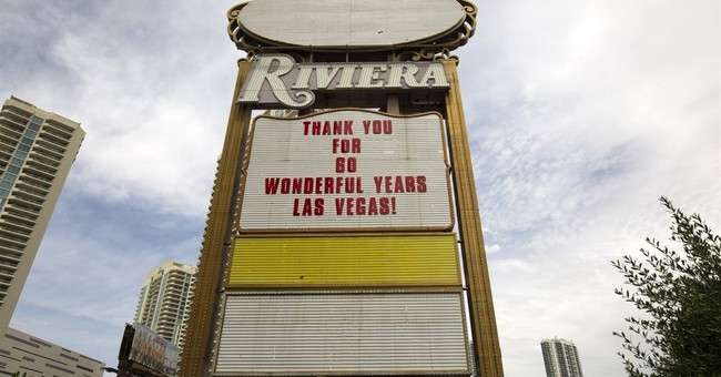 The Latest: Implosion levels tower of Vegas' Riviera casino