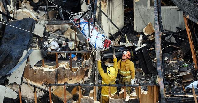 5 dead, 1 arrested in Los Angeles abandoned building fire