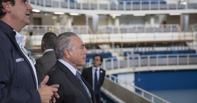 Brazil acting president, IOC head inspect Olympic Park