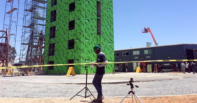 Six-story building put to earthquake test