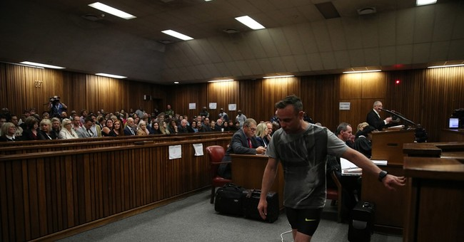 Pistorius walks on stumps for judge, sentencing on July 6