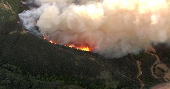 California brushfire surging through coastal canyons
