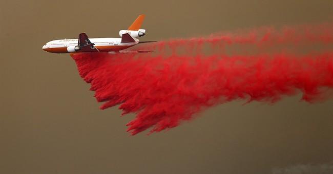 The Latest: Dozens evacuate from fire in California desert
