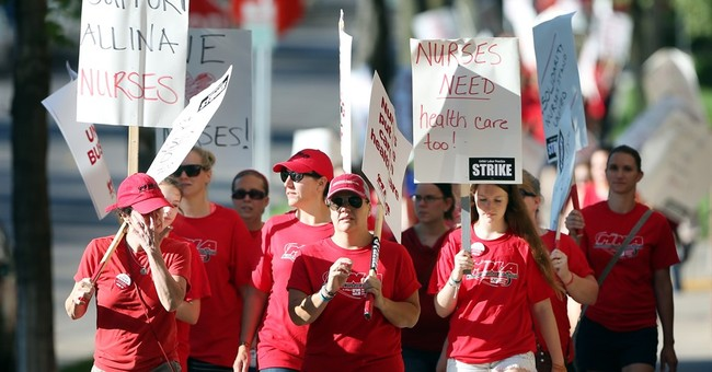 Nurses at 5 Minneapolis-area hospitals begin weeklong strike