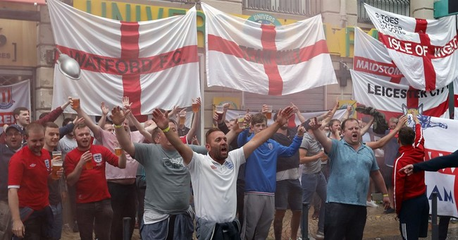 England fans boisterous but not disorderly in Saint-Etienne