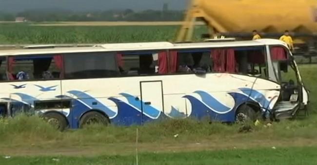 5 die as bus swerves off road in Serbia