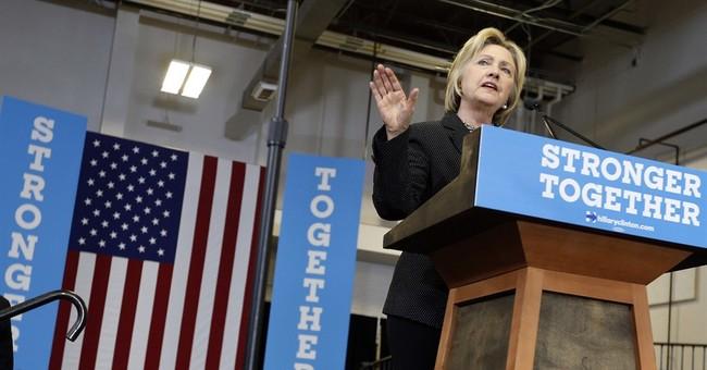 AP FACT CHECK: Clinton takes liberties in Trump takedown