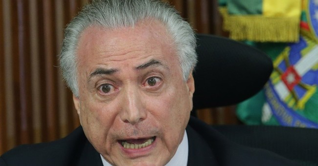 Brazil's Temer laments 2 presidents at Olympic ceremony