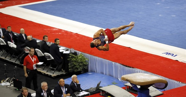 National champion Sam Mikulak on top at Olympic Trials