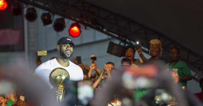 Just a kid from Akron, LeBron James honored in hometown