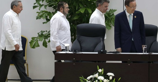 Colombian president, head of FARC rebels agree on cease-fire